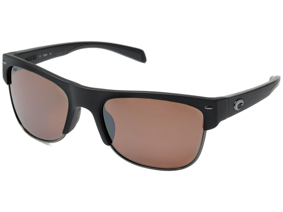 Costa - Costa Pawley's 580 Mirror Plastic (Matte Black/Silver Mirror 580P Plastic Lens) Fashion Sunglasses