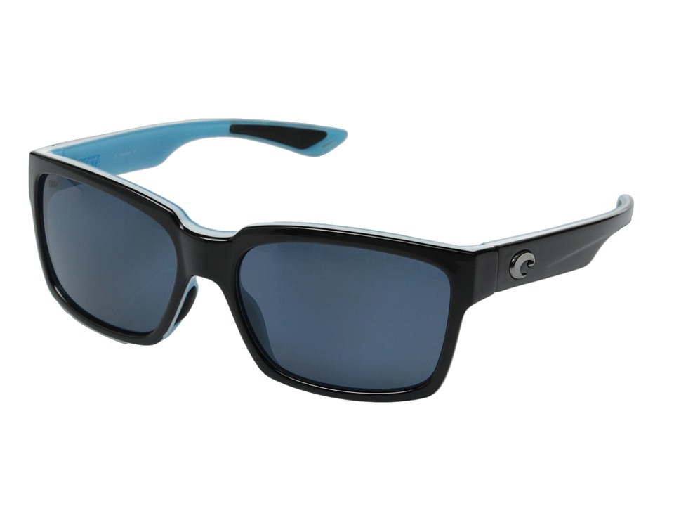 Costa - Costa Playa 580 Plastic (Black/White/Aqua/Gray 580P Plastic Lens) Fashion Sunglasses