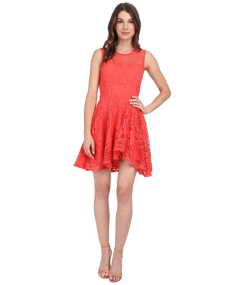 StyleStalker - Hong Kong Dress (Coral) Women's Dress