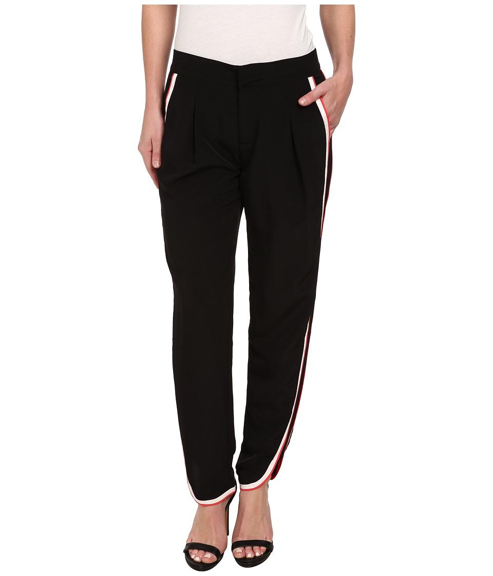 Sam Edelman - Slash Pocket Pant w/ Side Trim (Black) Women's Casual Pants
