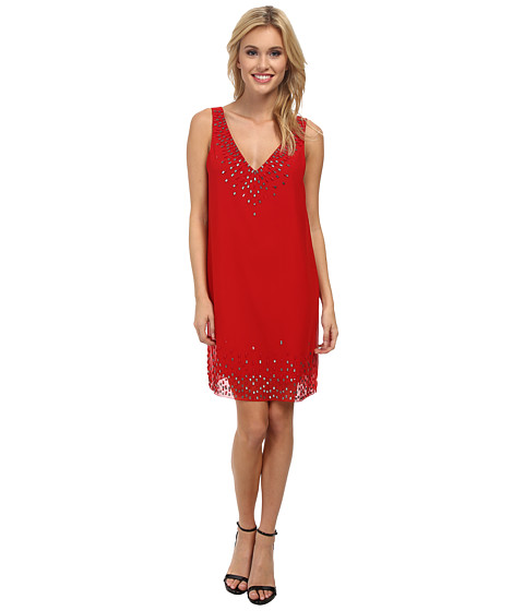 Sam Edelman - Sleeveless V-Neck Dress (Lipstick) Women