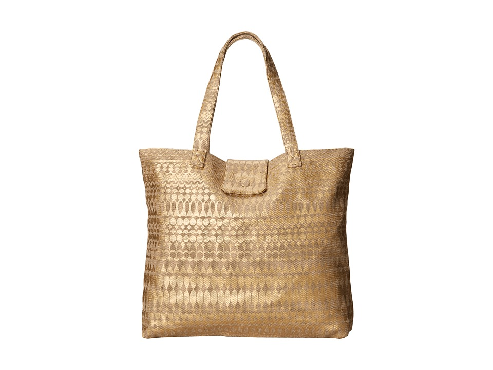 Echo Design - Metallic Geo Atlantis Tote (Bronze) Tote Handbags