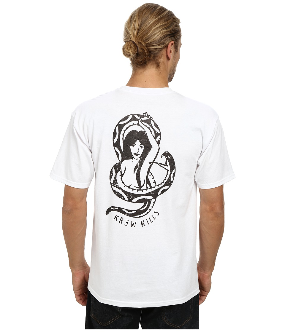 KR3W - Snake Lady Tee (White) Men's T Shirt