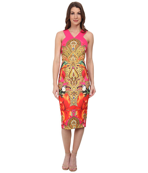 Ted Baker - Valeena Paisley Toucan Cross Back (Bright Pink) Women