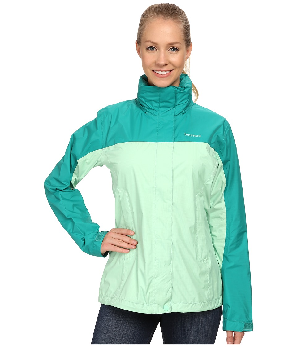 Marmot - PreCip Jacket (Green Frost/Green Garnet) Women's Jacket