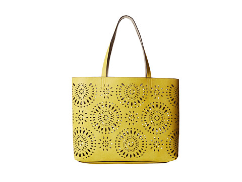 Echo Design - Starburst Reversible Essex and Pouch (Citron/Silver) Tote Handbags