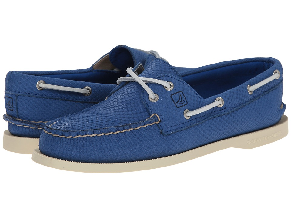 Sperry Top-Sider A/O 2-Eye Python (Blue) Women