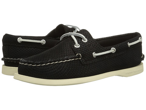 Sperry Top-Sider - A/O 2-Eye Python (Black) Women's Lace up casual Shoes