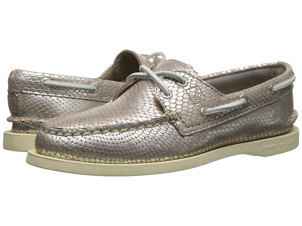 Sperry Top-Sider A/O 2-Eye Python (Silver) Women