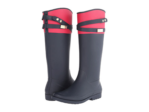 Tommy Hilfiger - Coree (Marine/Bright Coral) Women's Rain Boots