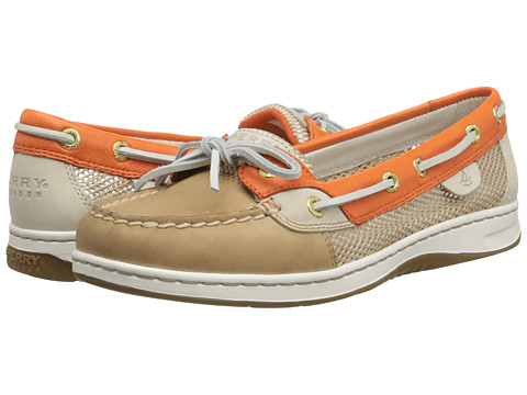 Sperry Top-Sider - Angelfish 2-Eye (Linen/Orange (Open Mesh)) Women's Lace up casual Shoes