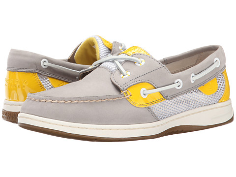 Sperry Top-Sider - Bluefish 2-Eye (Charcoal/Yellow (Open Mesh)) Women's Slip on Shoes