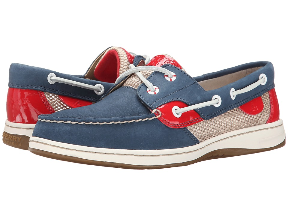 Sperry Top-Sider - Bluefish 2-Eye (Navy/Red (Open Mesh)) Women's Slip on Shoes