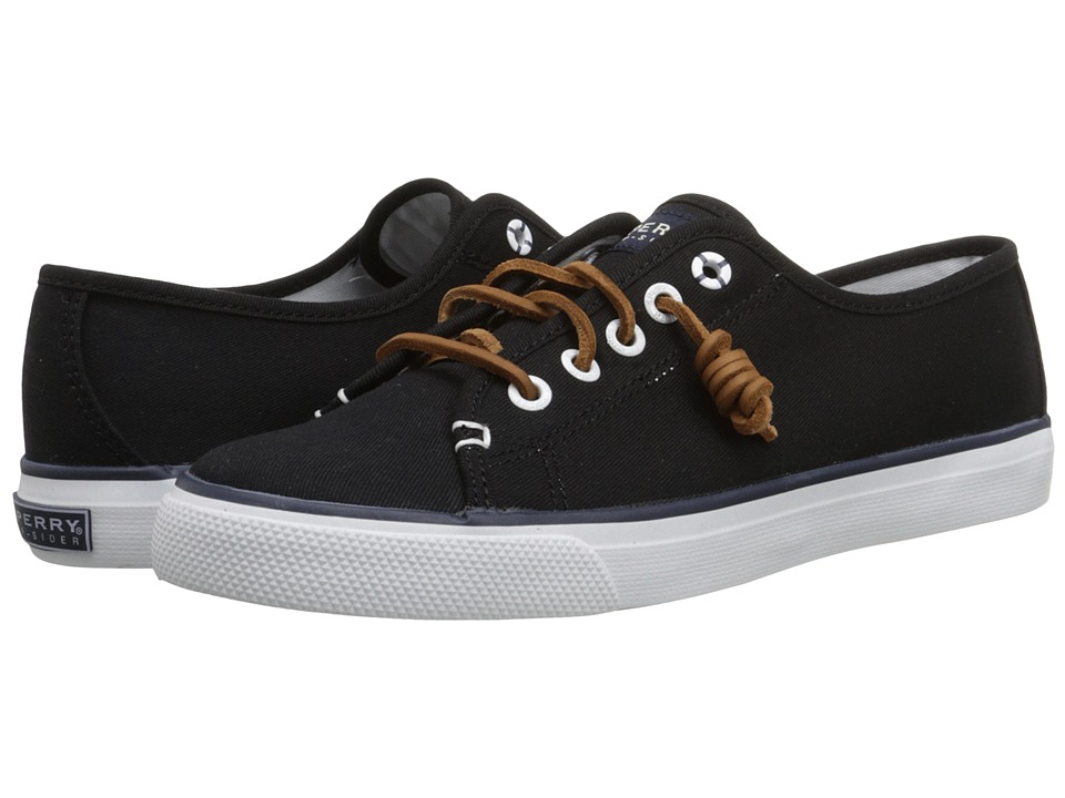 Sperry - Seacoast (Black Canvas) Women's Lace up casual Shoes