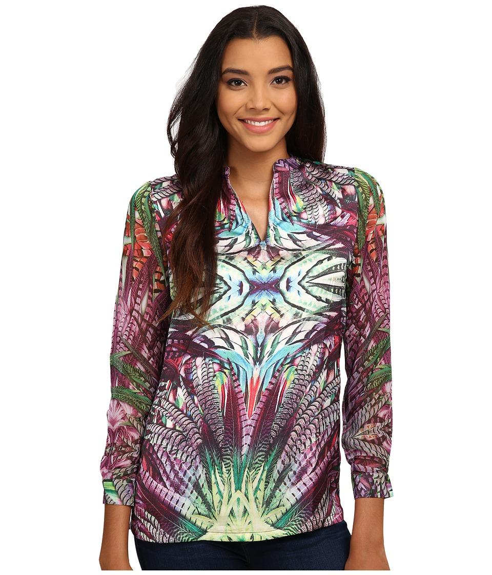 KAS New York - Rabia Blouse (Multi) Women's Blouse plus size,  plus size fashion plus size appare