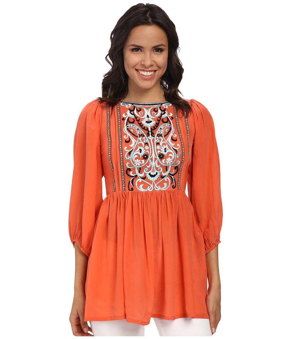 KAS New York - Jadwiga Tunic Dress (Coral) Women's Dress