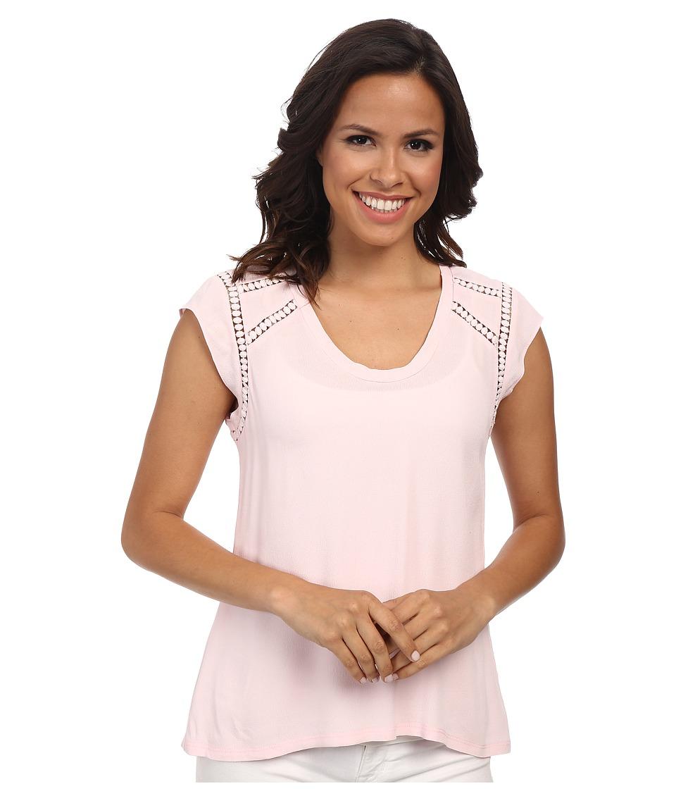 Rebecca Taylor - Sleeveless V-Neck Lila Crepe Top (Blossom) Women's Sleeveless