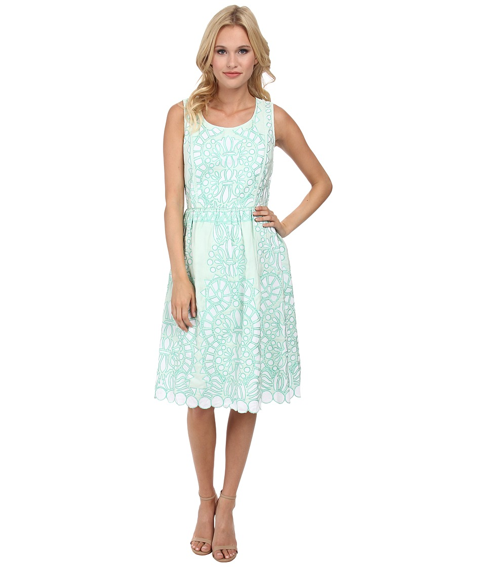 KAS New York Beauta Fit and Flare Dress (Mint) Women