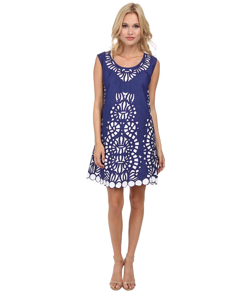 KAS New York - Cemi Cutwork Dress (Blue) Women's Dress
