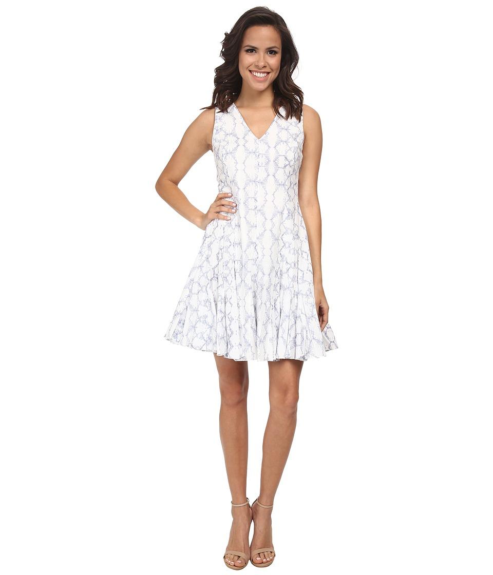 Rebecca Taylor Sleeveless V-Neck Tie-Dye Dress (Frost Combo) Women