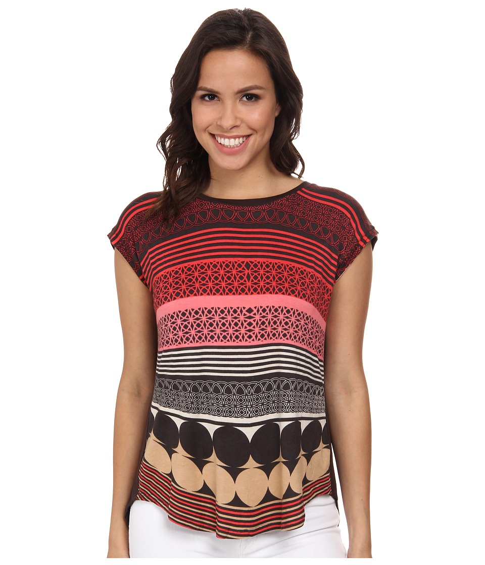 NIC+ZOE - All Knowing Top (Multi) Women's Short Sleeve Pullover
