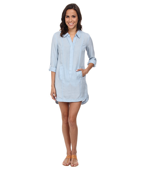 NIC+ZOE - Blue Dawn Tunic Dress (Pale Denim) Women