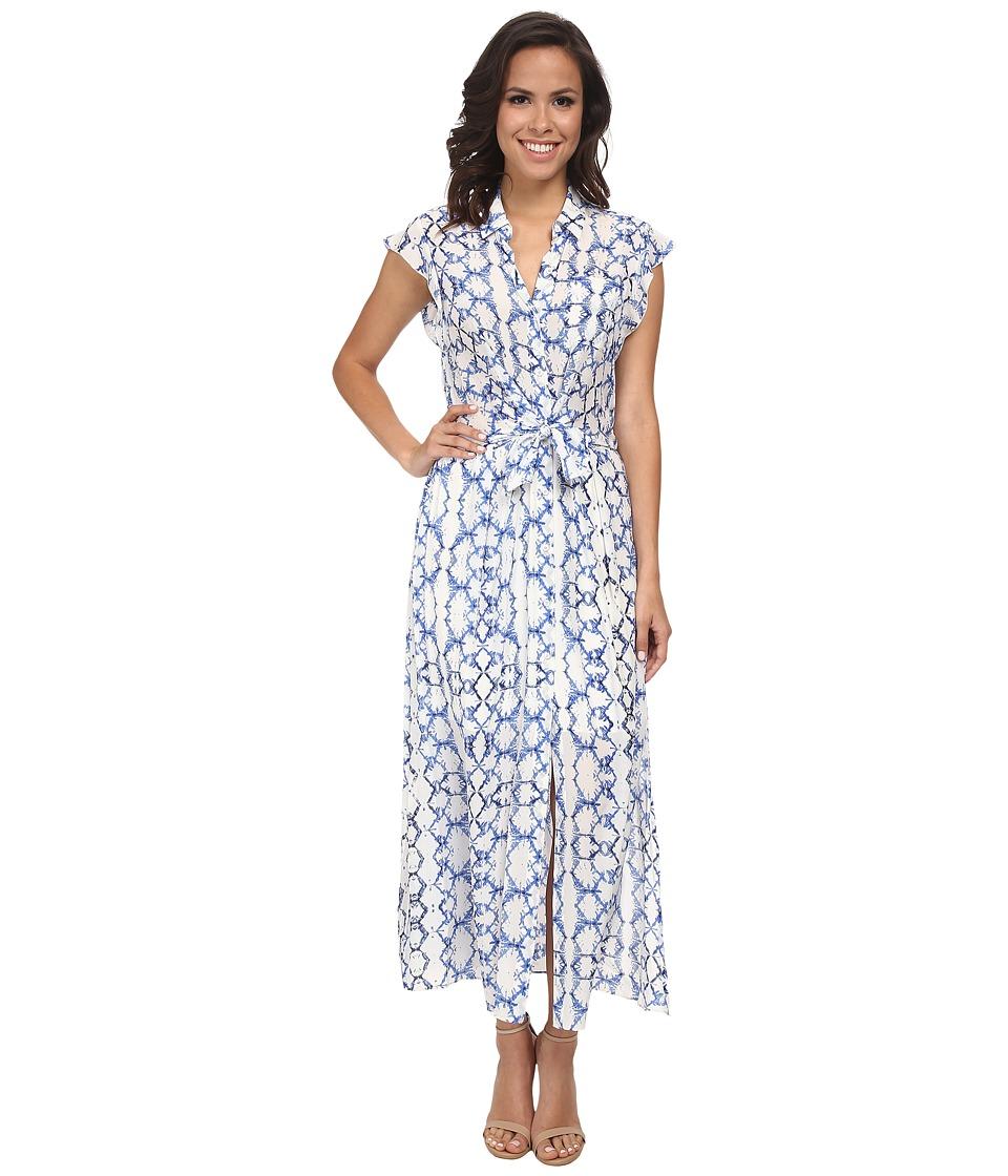 Rebecca Taylor - Sleeveless Tie-Dye Maxi Dress (Blue Combo) Women's Dress