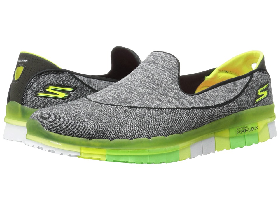 SKECHERS Performance - Go Flex (Black/Lime) Women's Shoes
