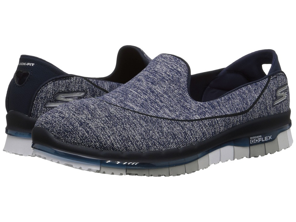SKECHERS Performance Go Flex (Navy/Gray) Women
