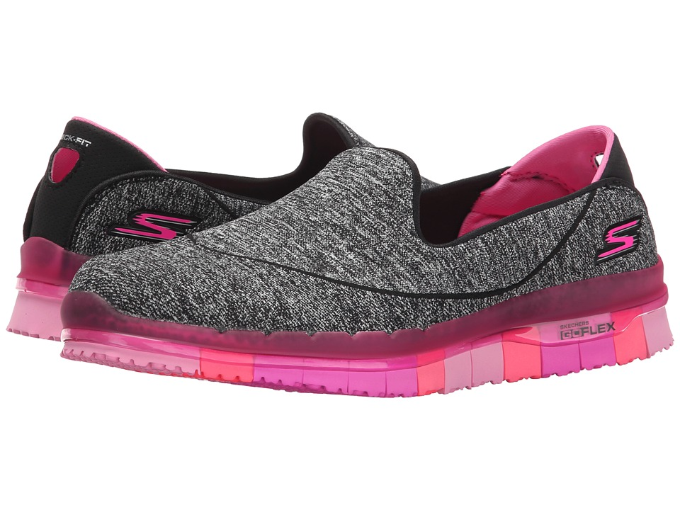 SKECHERS Performance - Go Flex (Black/Hot Pink) Women's Shoes