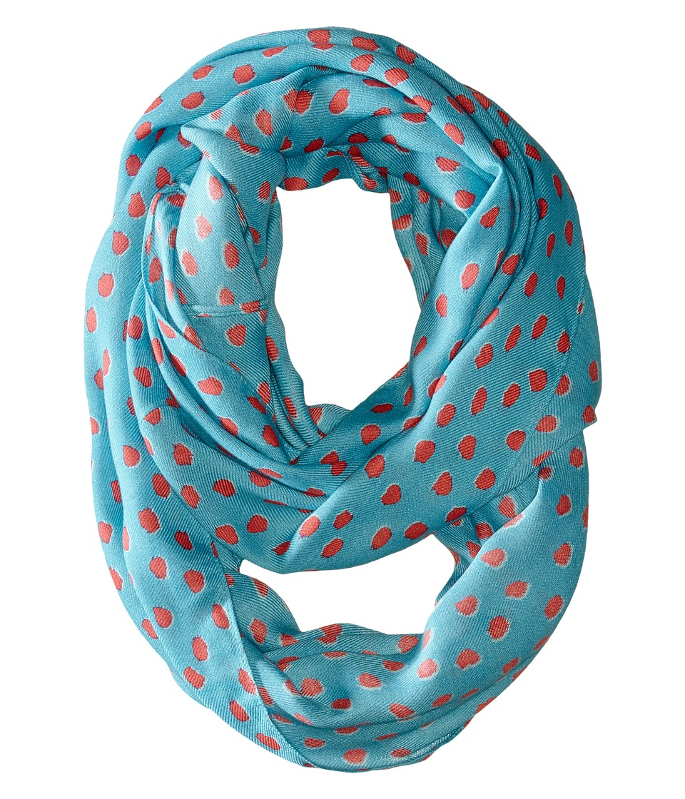 Kate Spade New York - Leopard Dot Infinity Scarf (Carribean Blue) Scarves