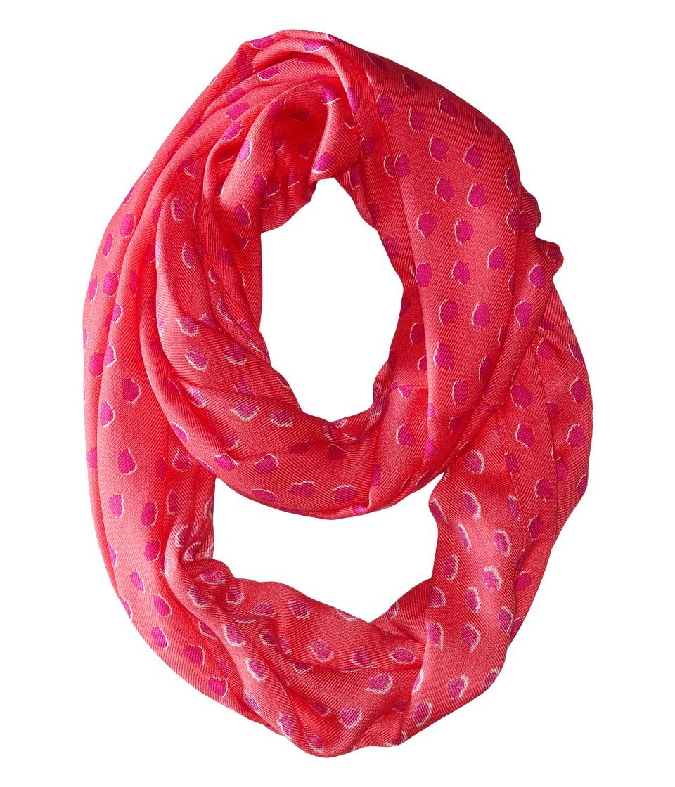 Kate Spade New York - Leopard Dot Infinity Scarf (Flamingo Pink) Scarves