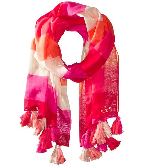 Kate Spade New York - Ombre Pom Pom Scarf (Pink) Scarves