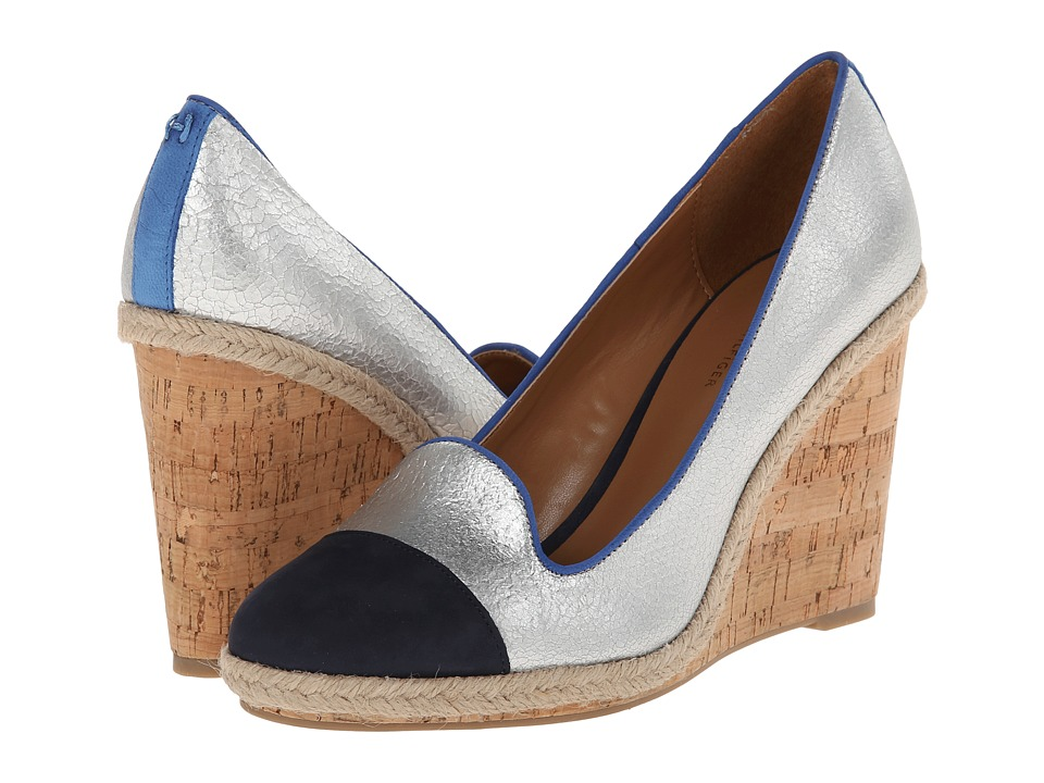 Tommy Hilfiger - Jardot2 (Silver/Marine) Women's Wedge Shoes