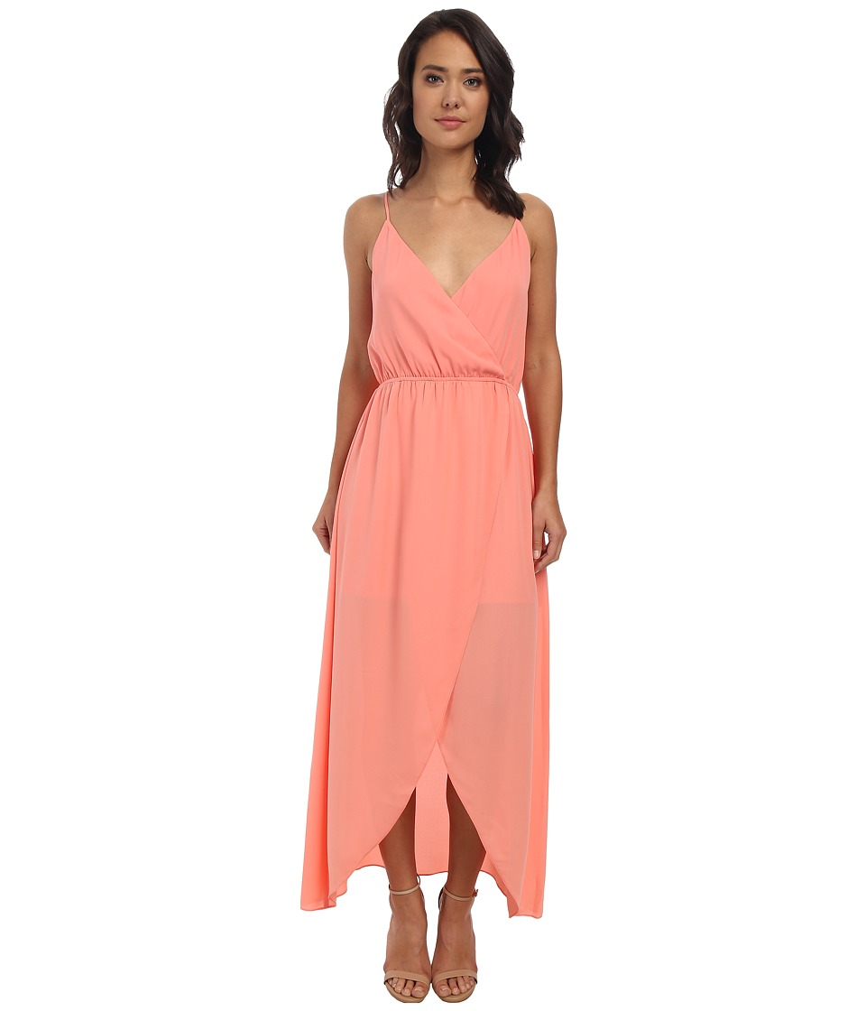 Brigitte Bailey - Twist Top Tulip Maxi Dress (Coral) Women's Dress