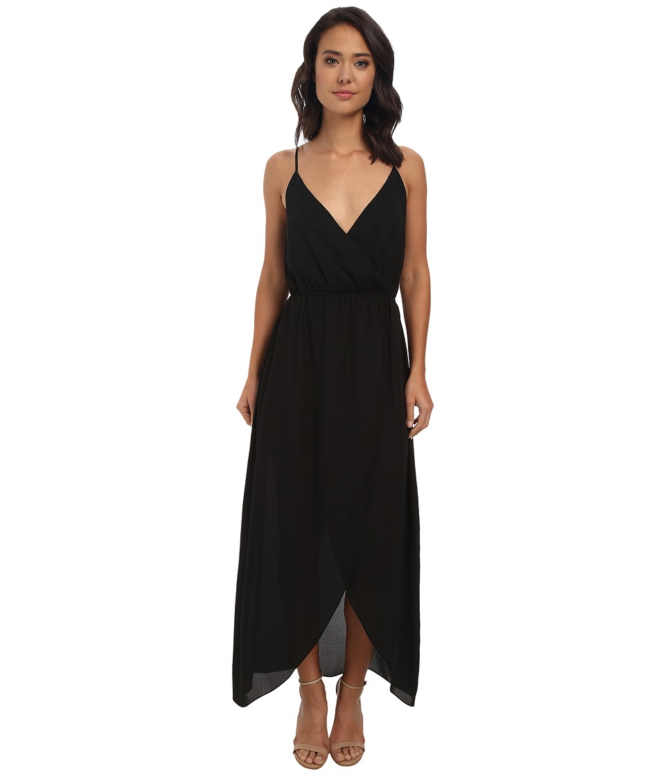 Brigitte Bailey - Twist Top Tulip Maxi Dress (Black) Women's Dress