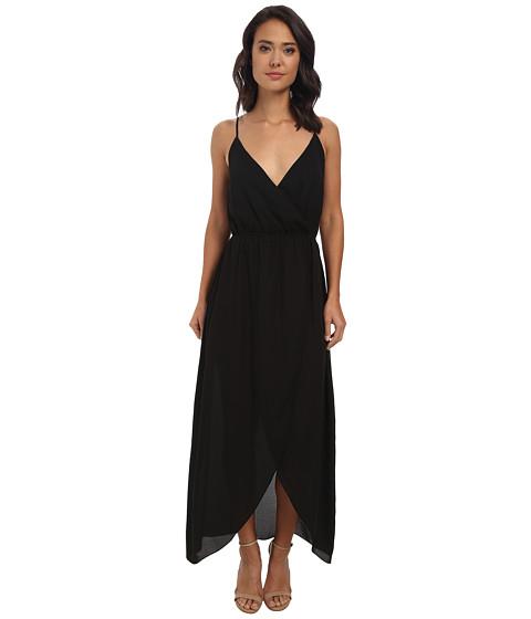 Brigitte Bailey - Twist Top Tulip Maxi Dress (Black) Women's Dress