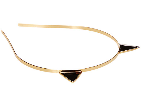 Kate Spade New York - Enamel Cat Ear Headband (Black) Headband