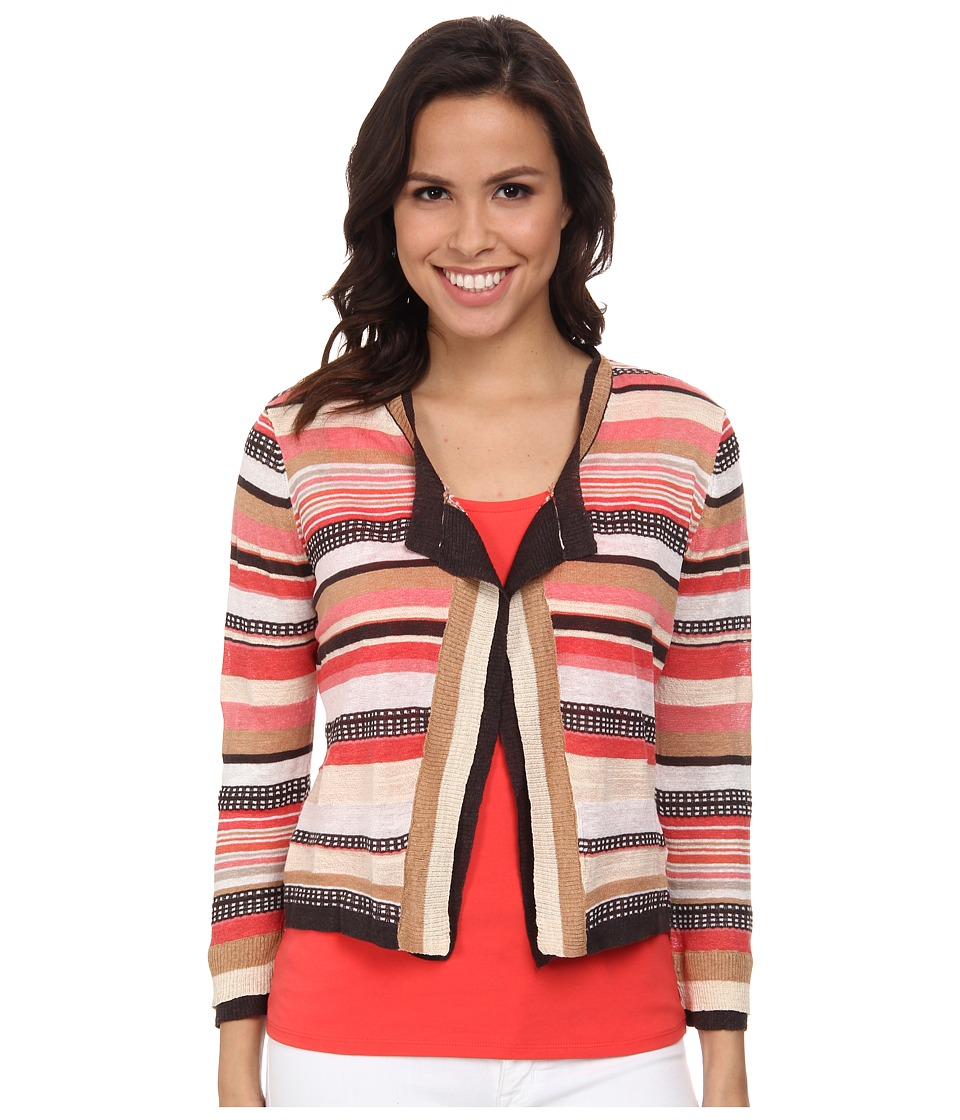 NIC+ZOE - Bright Stripe Cardy (Multi) Women's Sweater