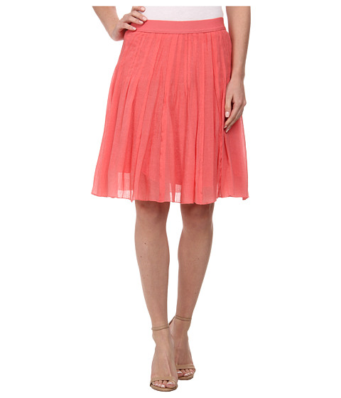 NIC+ZOE - Drifty Mesh Skirt (Bright Papaya) Women's Skirt