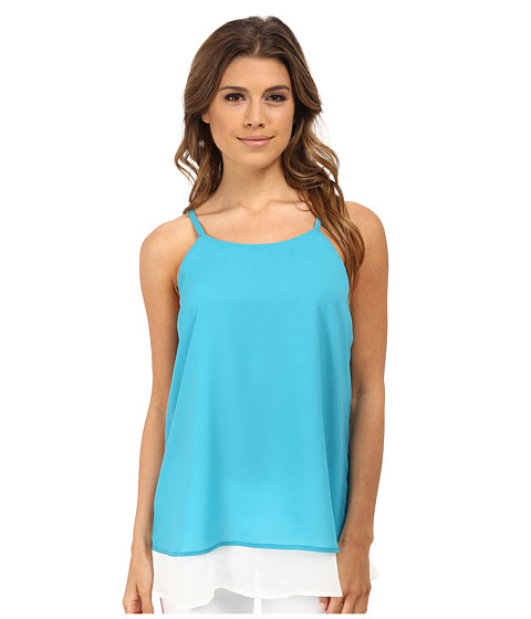 Gabriella Rocha - Double Layer Camisole (Aqua/White) Women's Sleeveless