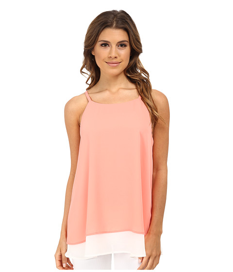 Gabriella Rocha - Double Layer Camisole (Coral/White) Women's Sleeveless