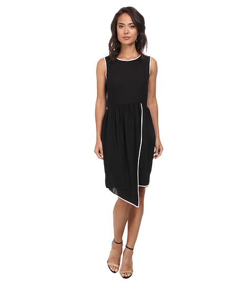 Gabriella Rocha - Dress w/ Contrast Piping (Black/White) Women