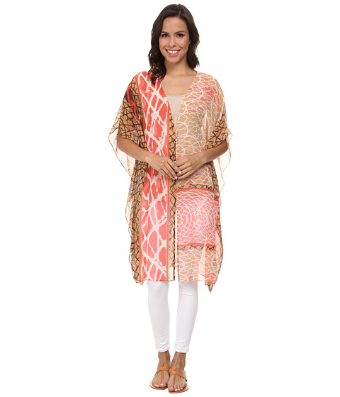 NIC+ZOE - Skipping Stones Caftan (Multi) Women's Coat
