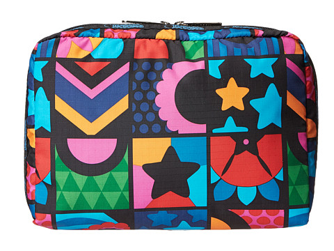 LeSportsac Luggage - Extra Large Rectangular and Square Cosmetic Combo (Flower Boxes) Cosmetic Case