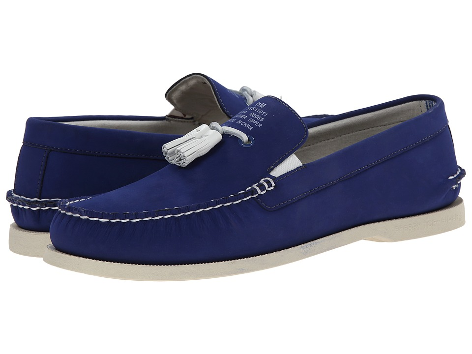 Band of Outsiders - A/O Tassel Boat Shoe (Cobalt) Men's Slip on Shoes