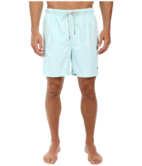 Tommy Bahama - Naples Tropics 6 Volley Swim Trunks (Ice Turquoise) Men