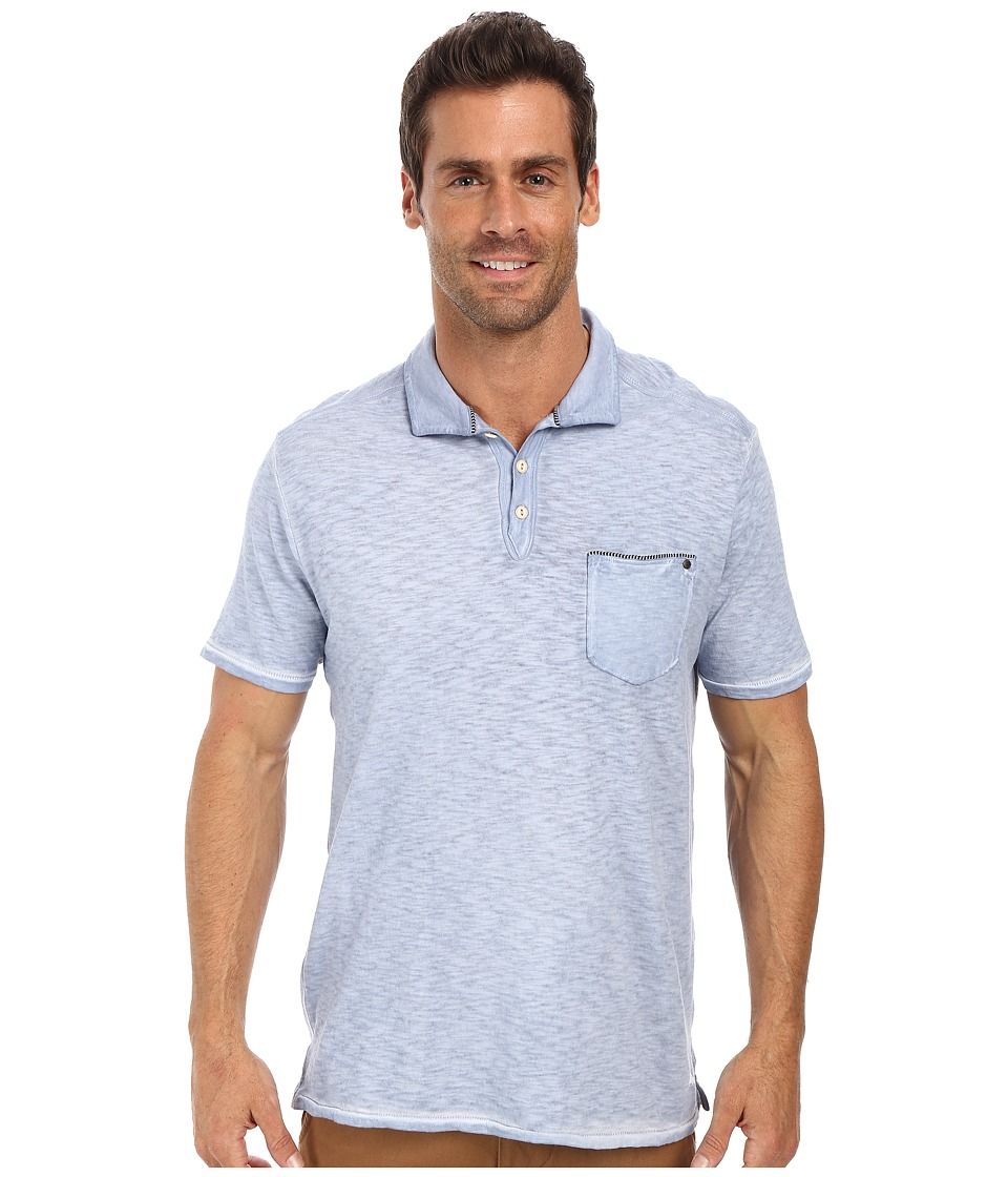 Tommy Bahama Denim - Island Modern Fit New Salerno Slub Polo (Platinum Blue) Men's Clothing