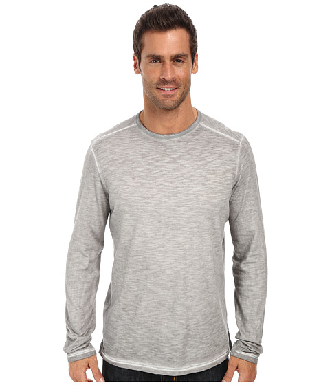 Tommy Bahama Denim - Island Modern Fit TB Salerno Slub Crewneck L/S T-Shirt (Type Writer) Men's Clothing