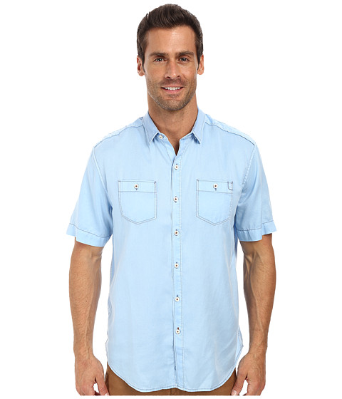 Tommy Bahama Denim - Island Modern Fit New Twilly Junior Shirt (Chambray Blue) Men